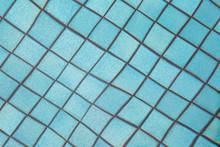 Square Blue Tiles Blurred And ...