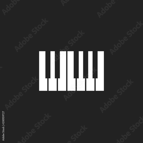Piano Keyboard Icon LogoMusic Design Template