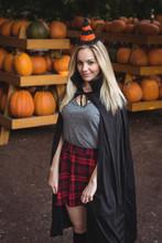 Portrait Of Woman In Halloween Costume