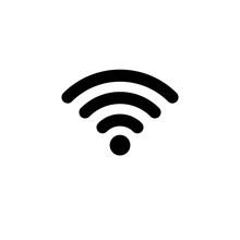WIFI Icon In Flat Style. Wireless Symbol