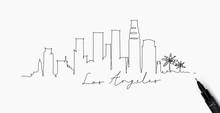 Pen Line Silhouette Los Angeles