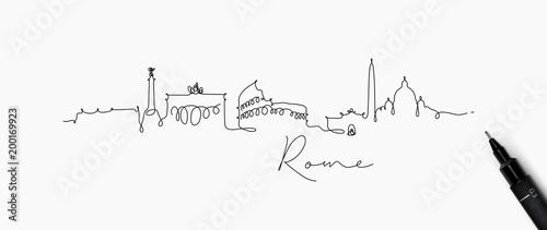 Fototapeta premium Sylwetka linii pióra rzym