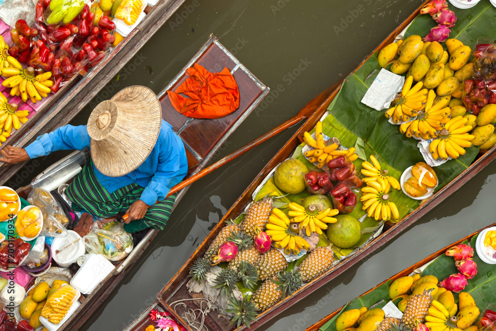 Fototapeta floating market thailand
