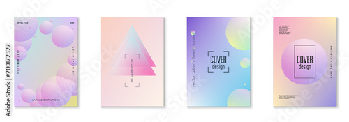 Fotografía  Minimal shapes cover set with holographic fluid