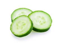 Fresh Slice Cucumber Close-up ...