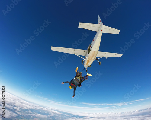 Foto op Canvas Luchtsport Skydiving tandem jump