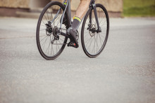 Athlete Riding His Bicycle