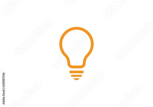 Photo  bulb ilustration logo vector