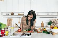 Woman Reading Recipe Simple Su...