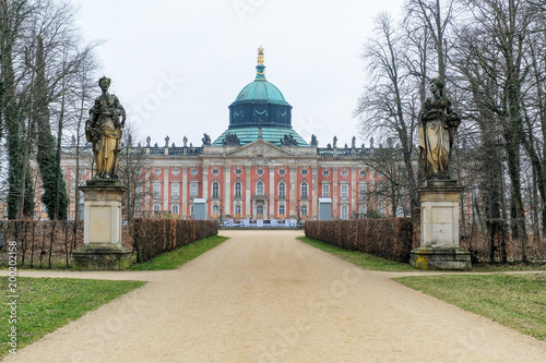 Foto auf Leinwand Schloss Front of The New Palace ( Neues Palais) in Potsdam, Germany, Europe.