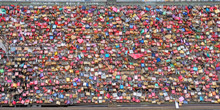 Colorful Love Padlocks On The Hohenzollern Bridge  In Cologne, Germany