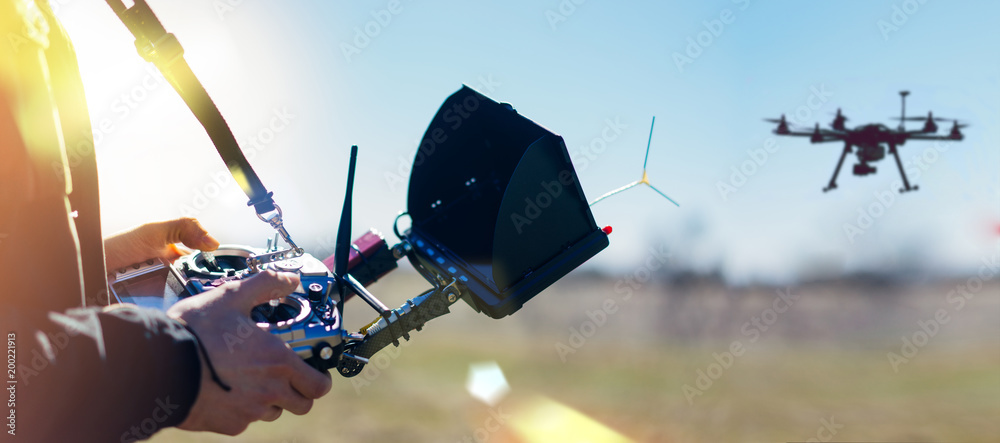 Fototapety, obrazy: Dron remote controller
