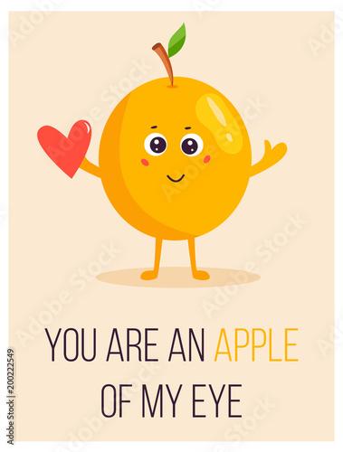 jasny-plakat-z-jablko-kreskowka-i-mowiac