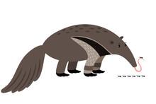 Ant-eater Cartoon Animal Icon
