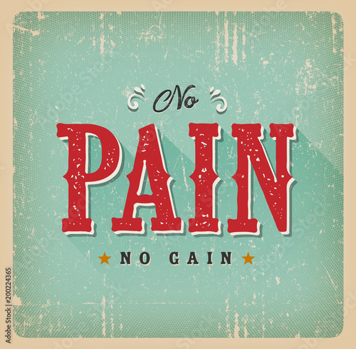 Stampe  No Pain No Gain Retro Business Card