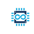 Chip Infinity Logo Icon Design
