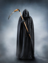 Grim Reaper Standing In The Fo...