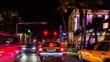 Night ride through Ocean drive nightlife center of Miami, Florida. USA