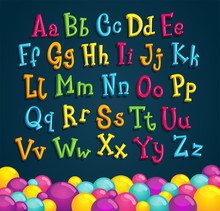 Children's Alphabet. Cartoon V...