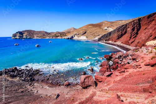 Fototapeta Santorini, Greece - Red Beach obraz
