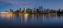 Night Skyline Of Vancouver Dow...