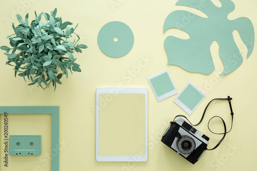 Foto op Plexiglas Oost Europa Mockup on yellow background