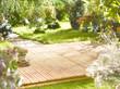 Leinwandbild Motiv Garten