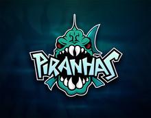 Piranhas Emblem Logo For Sport...