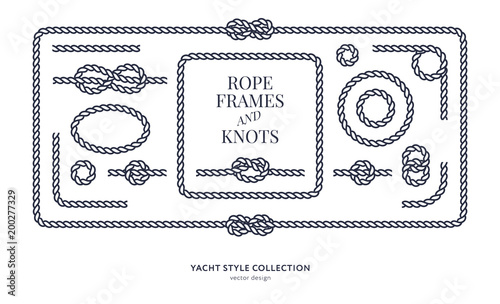Nautical rope knots and frames Wallpaper Mural