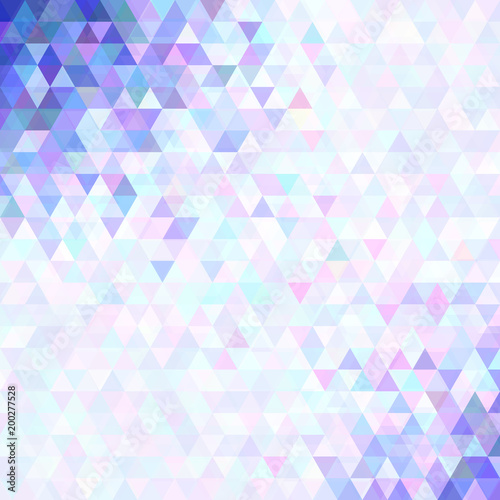 Fototapeta Geometrical abstract triangle background design - vector graphics