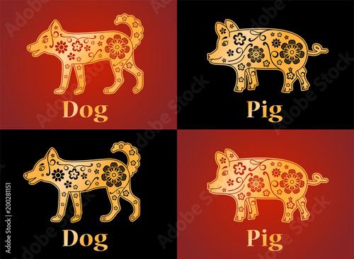 Dog Pig Puppy Symbols Of The Chinese Horoscope 2030 2019 2031