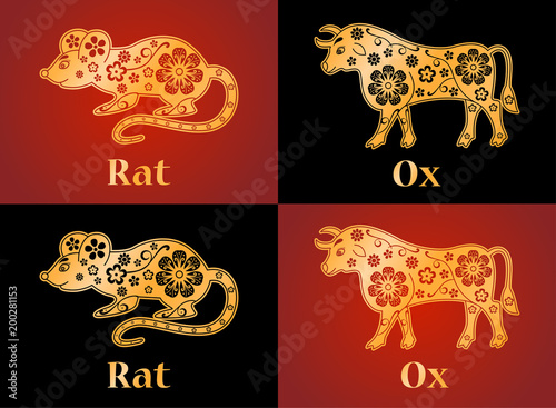 Rat Ox Mouse Symbols Of The Chinese Horoscope 2020 2021 Years