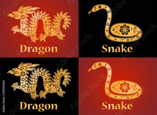 Dragon Snake Symbols Of The Chinese Horoscope 2024 2025 Years