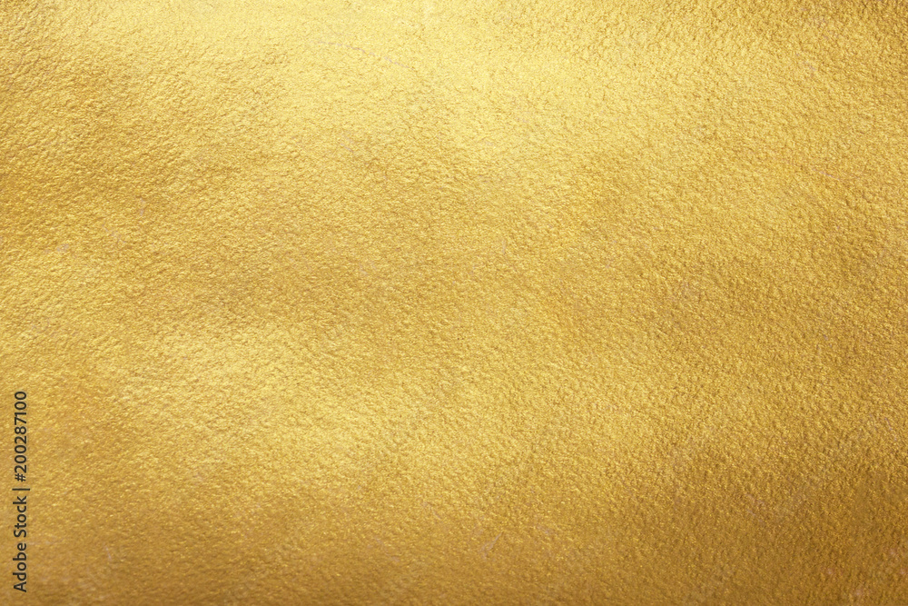Fototapety, obrazy: Gold background. Rough golden texture. Luxurious gold paper template for text design, lettering.