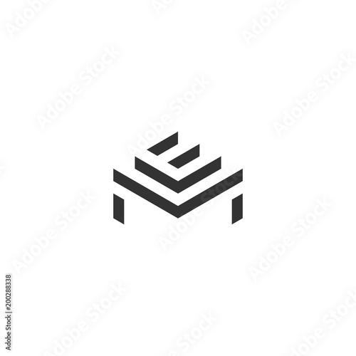 Photo  em logo icon monogram