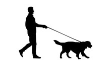The Silhouette Of A Man Walki...