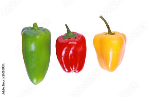 Photo  Mini poivrons de couleurs différentes