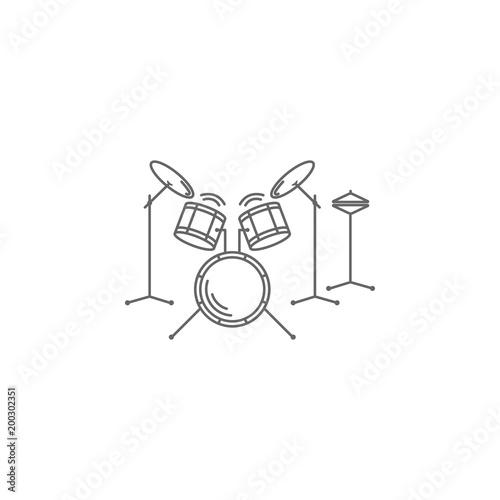 Drum Set Icon Simple Element Illustration Drum Set Symbol Design