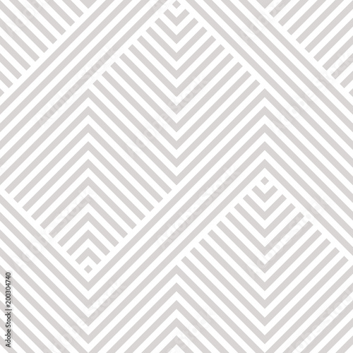 Vector geometric seamless pattern. Modern texture with lines, stripes. Simple abstract geometry graphic design. Subtle minimalist white and gray background. Design for wallpapers, prints, carpet, wrap