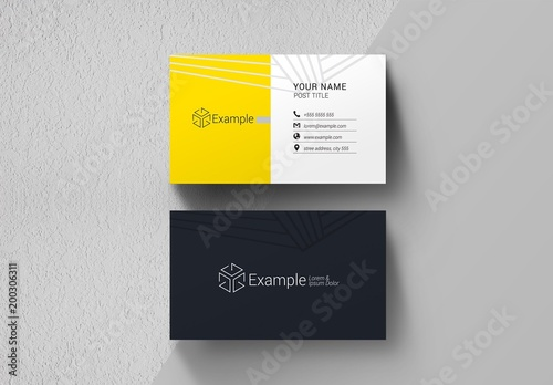Black Yellow And White Business Card Layout Buy This