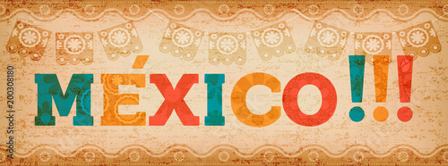 Happy mexico holiday typography quote banner