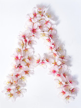 Letters Made Of Pink Spring Fl...