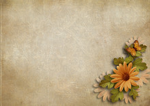 Grunge Vintage Background With...