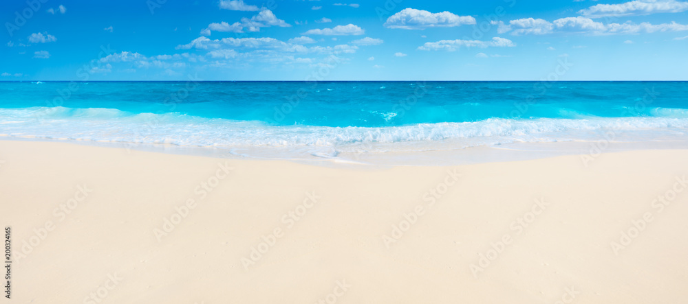 Fototapety, obrazy: Summer beach and sea