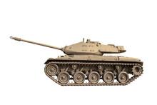 Light Tank Isolated On White Background