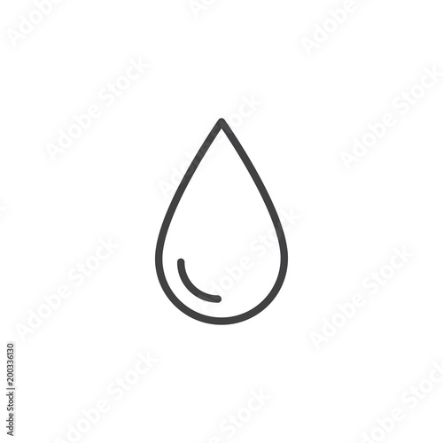 Obraz Water drop outline icon. linear style sign for mobile concept and web design. Drop of water simple line vector icon. Symbol, logo illustration. Pixel perfect vector graphics - fototapety do salonu