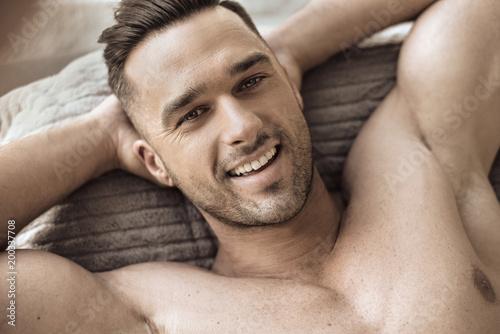 Papiers peints Artiste KB Closeup portrait of a handsome, muscular man