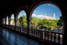 Merida, Plaza Grande Seen From...
