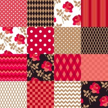 Patchwork Pattern From Floral,...