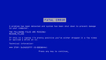 Blue Screen Of Death Vector. B...